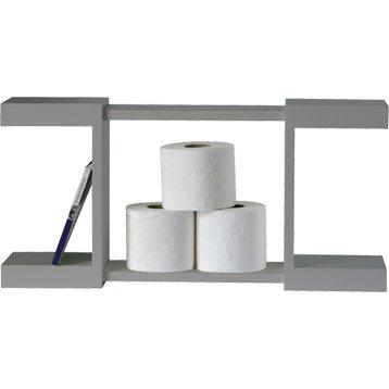 Meuble coffrage et rangement wc wc abattant et lave mains leroy merlin - Etagere murale pour wc ...