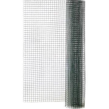 Grillage pour animaux soudé vert, H.0.5 x L.3 m, maille H.12 x l.12.7 mm