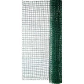 Grillage soudé vert H.1.5 x L.5 m, maille de H.12 x l.12.7 mm