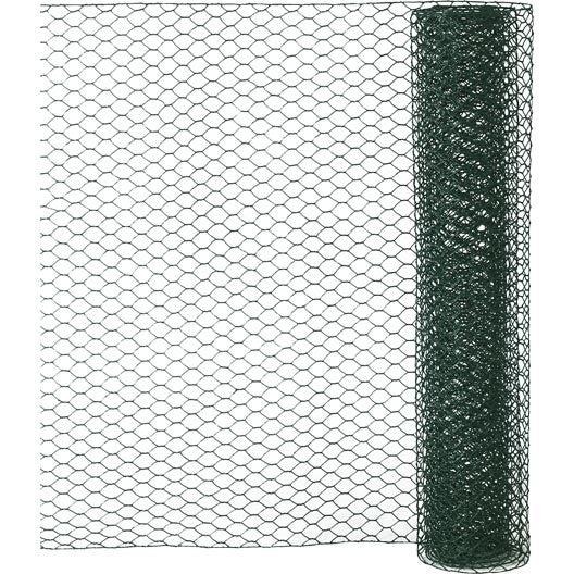 Grillage pour animaux triple torsion vert ,H.0.5 x L.2.5 m H.13 x l.13 mm