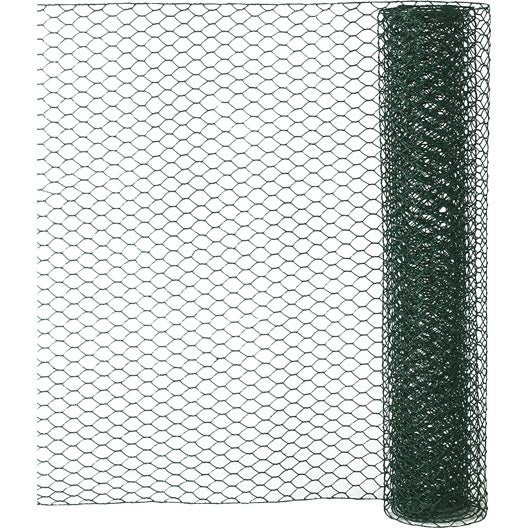 Grillage triple torsion vert h 0 5 x l 2 5 m maille de h for Grillage jardin leroy merlin