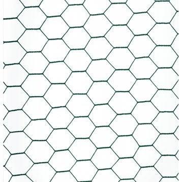 Grillage triple torsion vert H.0.5 x L.10 m, maille de H.25 x l.25 mm