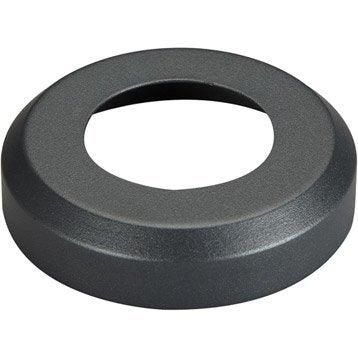 Cache sabot aluminium à plat gris foncé OBAPI