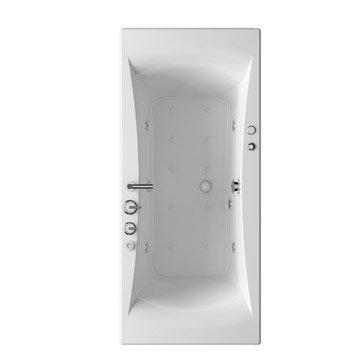 Baignoire balnéo rectangulaire L.180x l.80 cm, THALA Confort