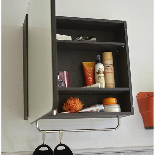 Armoire de toilette l. 56.2 cm, noir Fairway | Leroy Merlin
