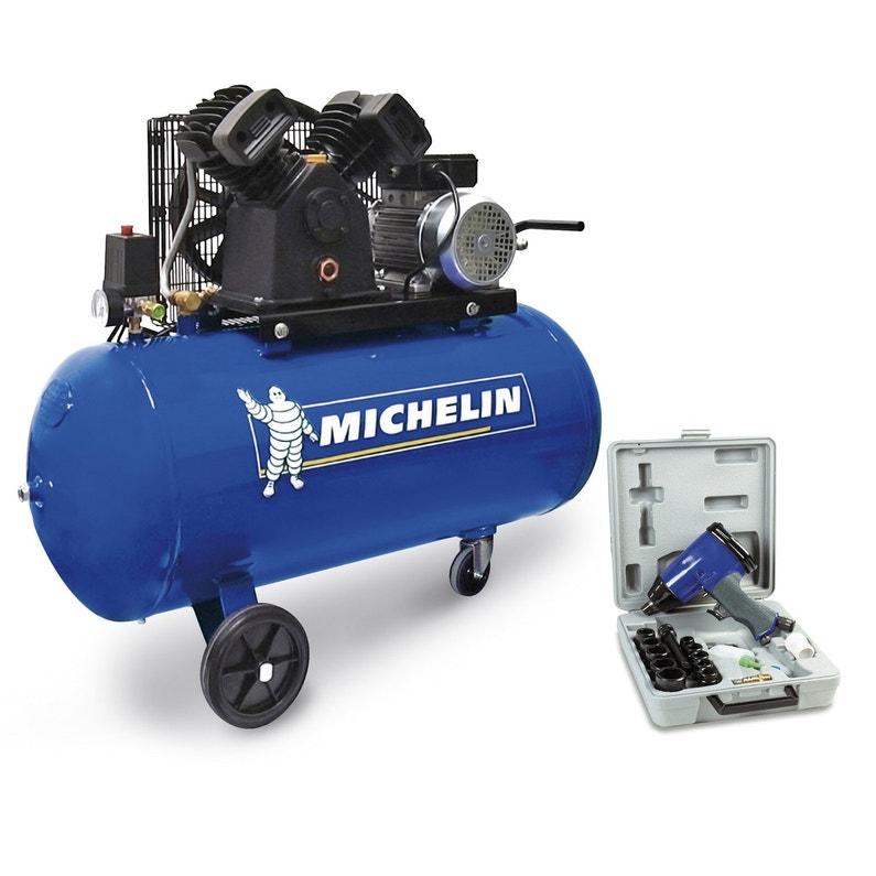 Compresseur d atelier MICHELIN 100 l 3 cv   Leroy Merlin 39ce1a6339bf