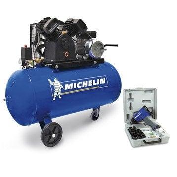 Compresseur d'atelier MICHELIN 100 l 3 cv