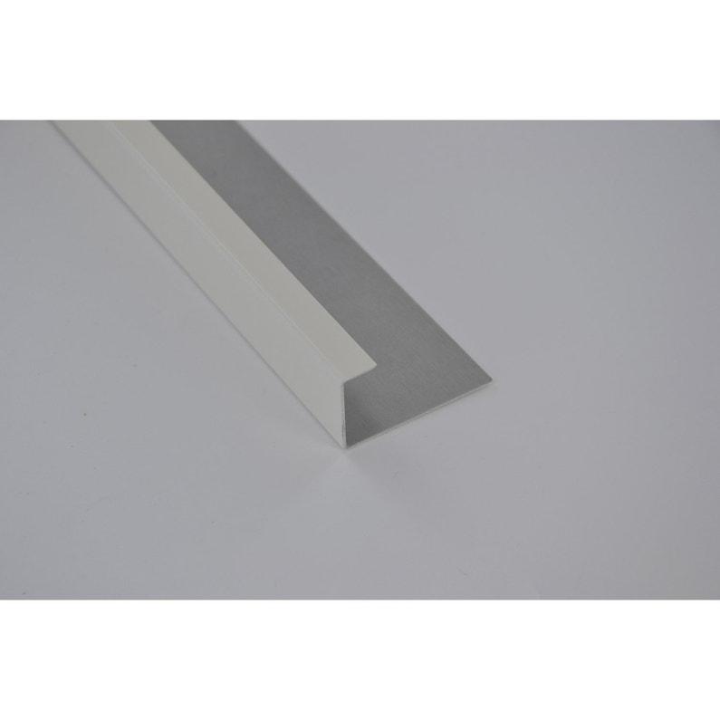 Profil De Finition Aluminium 24 X 45 Scover Plus Blanc L2 M