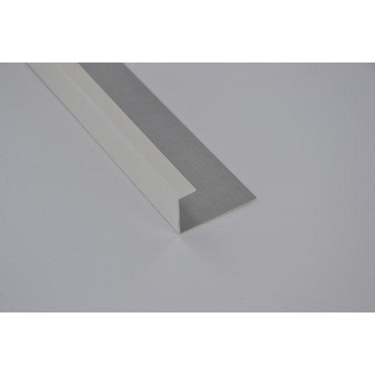 profil de finition aluminium 24 x 45 mm l 2 m leroy merlin. Black Bedroom Furniture Sets. Home Design Ideas