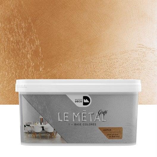 Peinture effet le m tal griff maison deco ja pur 2 l - Peinture effet metal leroy merlin ...