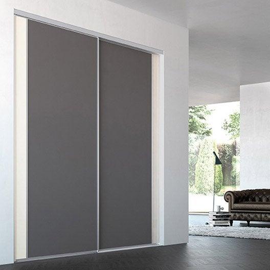 porte de placard coulissante sur mesure iliko inspir de 60 1 80 cm leroy merlin. Black Bedroom Furniture Sets. Home Design Ideas