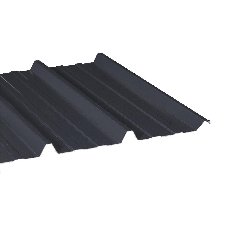 plaque sur mesure nervur acier galvanis gris 1m 6 3 mm sec gris dhaze leroy merlin. Black Bedroom Furniture Sets. Home Design Ideas