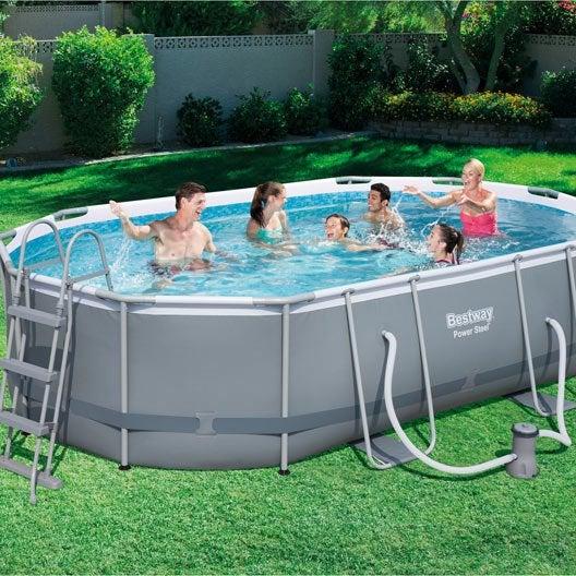 Piscine hors sol piscine bois gonflable tubulaire - Piscine gonflable rectangulaire jardin ...