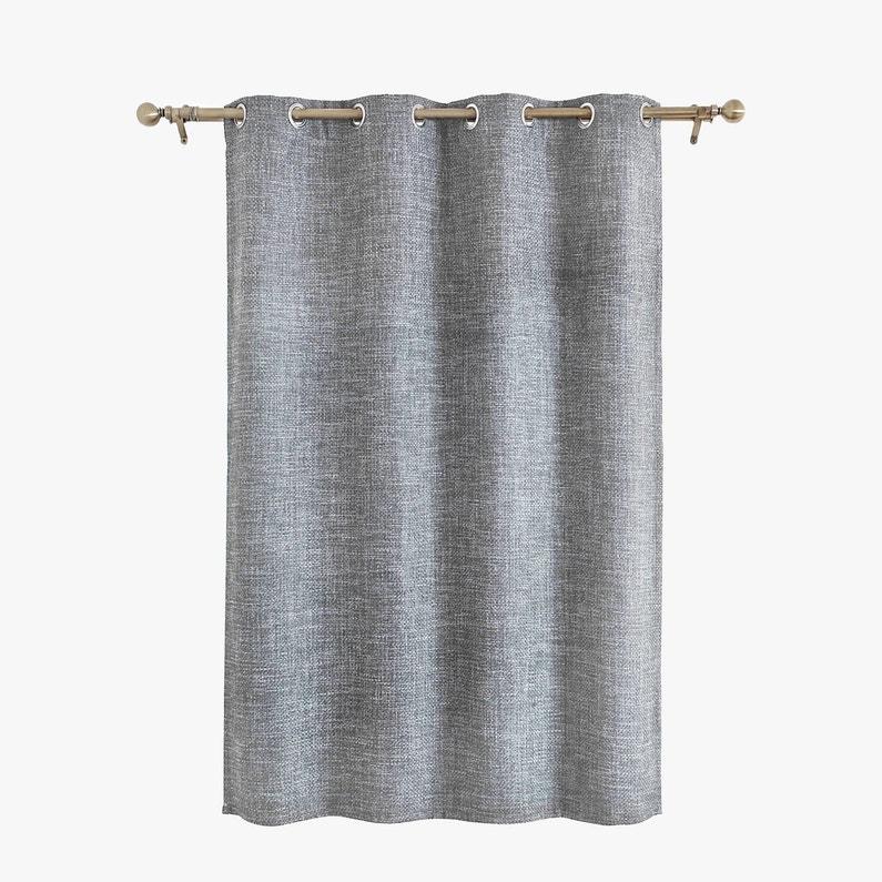 rideau tamisant maille gris clair x cm inspire leroy merlin. Black Bedroom Furniture Sets. Home Design Ideas