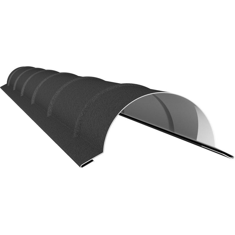 Faîtière Demi Ronde Pour Plaque Pan Tuile Mat 7024 L197 M
