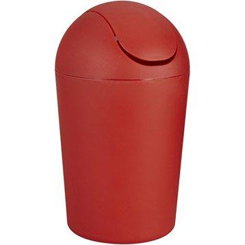 Poubelle de salle de bains 5l smart rouge rouge n 5 - Accessoire de salle de bain rouge ...
