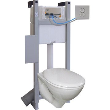 wc suspendu wc abattant et lave mains leroy merlin