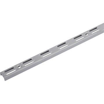 Crémaillère double acier, H.200 cm entraxe 50 mm
