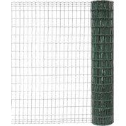 Grillage soudé vert H.1.5 x L.10 m, maille de H.100 x l.50 mm