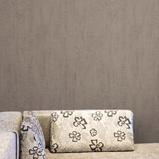papier peint papier roma marron leroy merlin. Black Bedroom Furniture Sets. Home Design Ideas