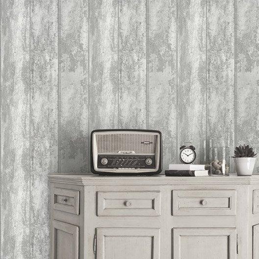 papier peint vinyle sur papier monrovilla gris larg m leroy merlin. Black Bedroom Furniture Sets. Home Design Ideas