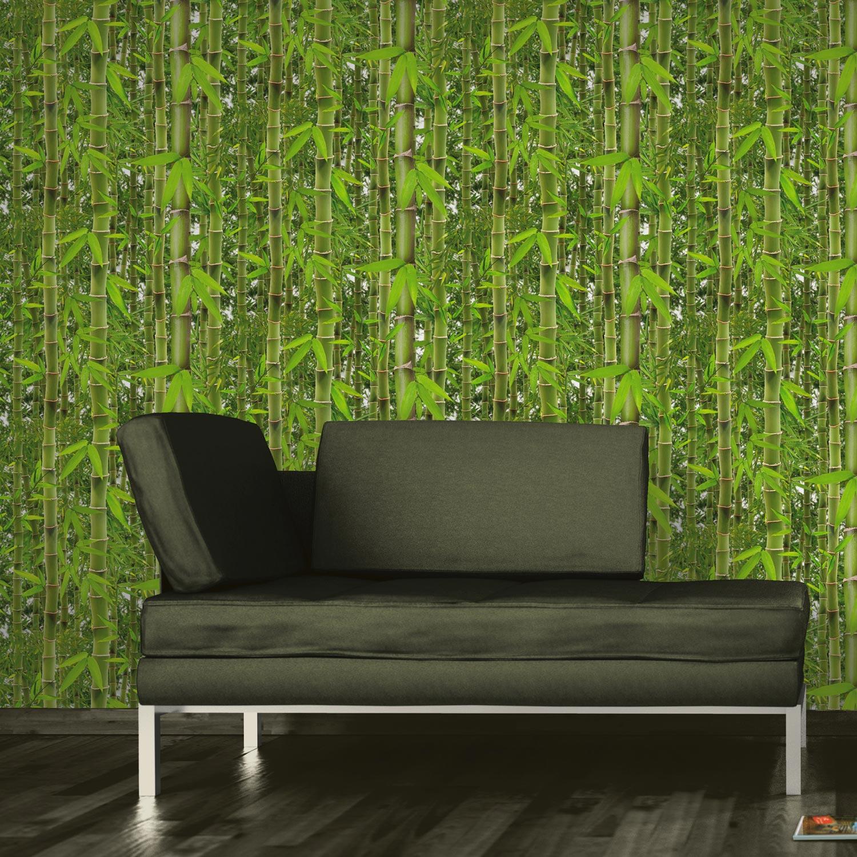Leroy Merlin Papier Peint Salle De Bain papier peint papier bambouseraie vert