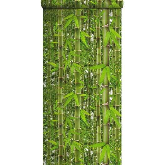 Papier peint papier Bambouseraie