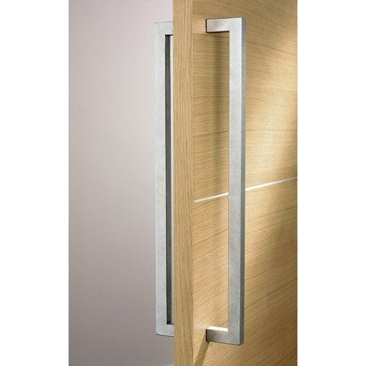 Poignee inox b ton double carr pour porte de toute largeur leroy merlin - Largeur double porte ...