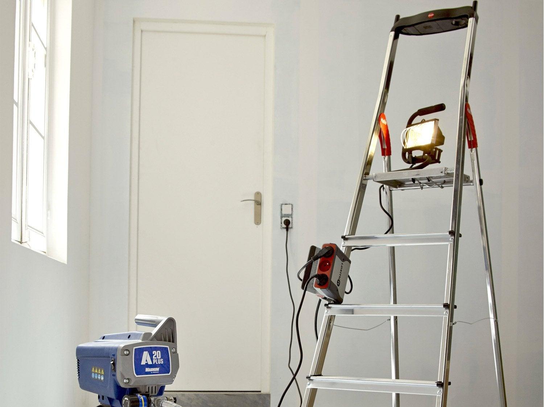 escabeau acier 6 marches utilisation occasionnelle. Black Bedroom Furniture Sets. Home Design Ideas