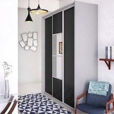 Porte de placard coulissante gris graphite SPACEO l.67 x H.250 cm
