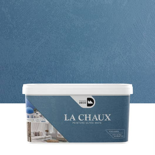 peinture effet la chaux maison grecque maison deco cyclades 2 5 l leroy merlin. Black Bedroom Furniture Sets. Home Design Ideas