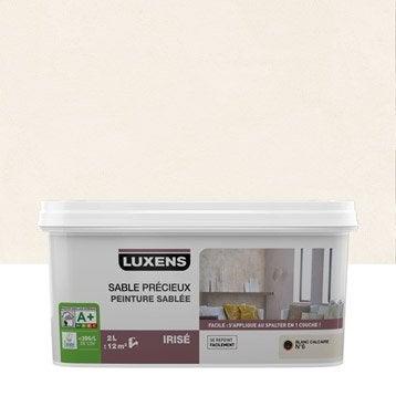 Peinture à effet, Sable précieux LUXENS, blanc calcaire 6, 2 l