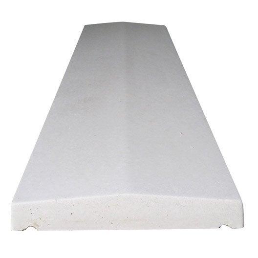couvre mur 2 pans lisse ton pierre h 4 5 x x cm leroy merlin. Black Bedroom Furniture Sets. Home Design Ideas