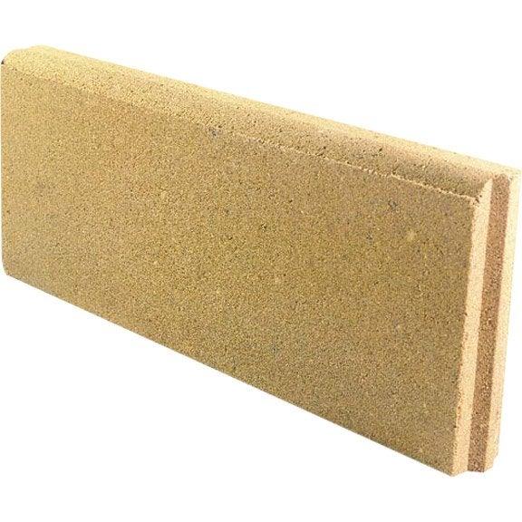 bordure droite b ton jaune x cm leroy merlin. Black Bedroom Furniture Sets. Home Design Ideas