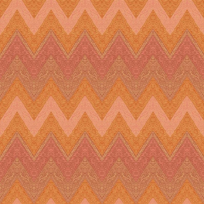 Papier Peint Intisse Reliefe Chevron Orange Intisse Relief Indochic
