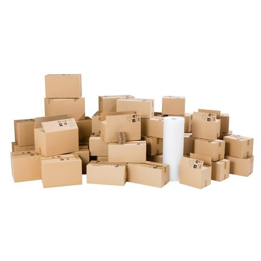 kit d m nagement pour logement 130m cartons film bulle adh sifs leroy merlin. Black Bedroom Furniture Sets. Home Design Ideas
