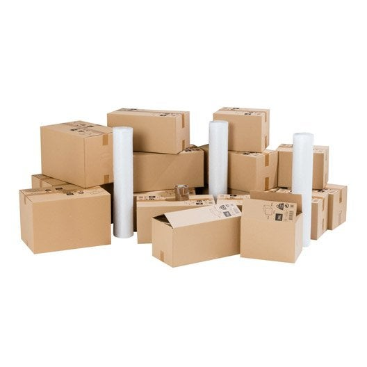 kit d m nagement pour logement 50m cartons films bulle adh sifs leroy merlin. Black Bedroom Furniture Sets. Home Design Ideas