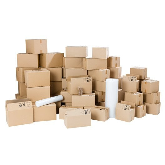 kit d m nagement pour logement 150m cartons films bulle adh sifs leroy merlin. Black Bedroom Furniture Sets. Home Design Ideas