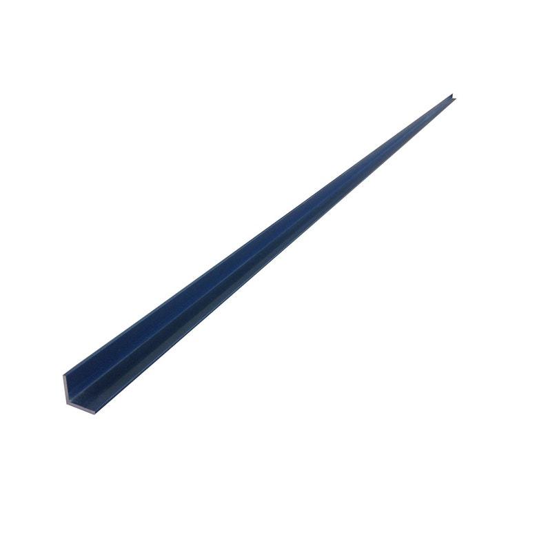 Cornière Aluminium 80mm X 40mm Long 25ml Gris