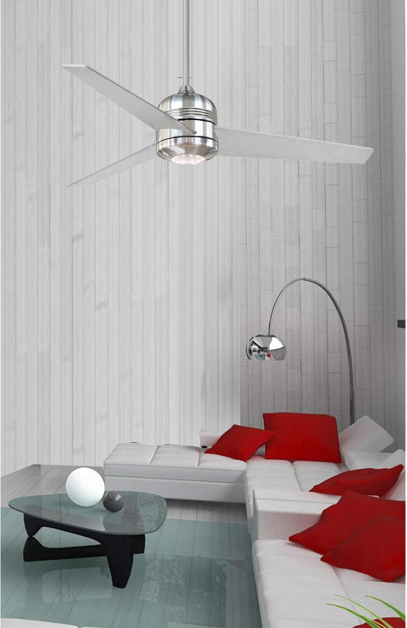 ventilateur de plafond moderne club bois argent 1 x 18 w. Black Bedroom Furniture Sets. Home Design Ideas