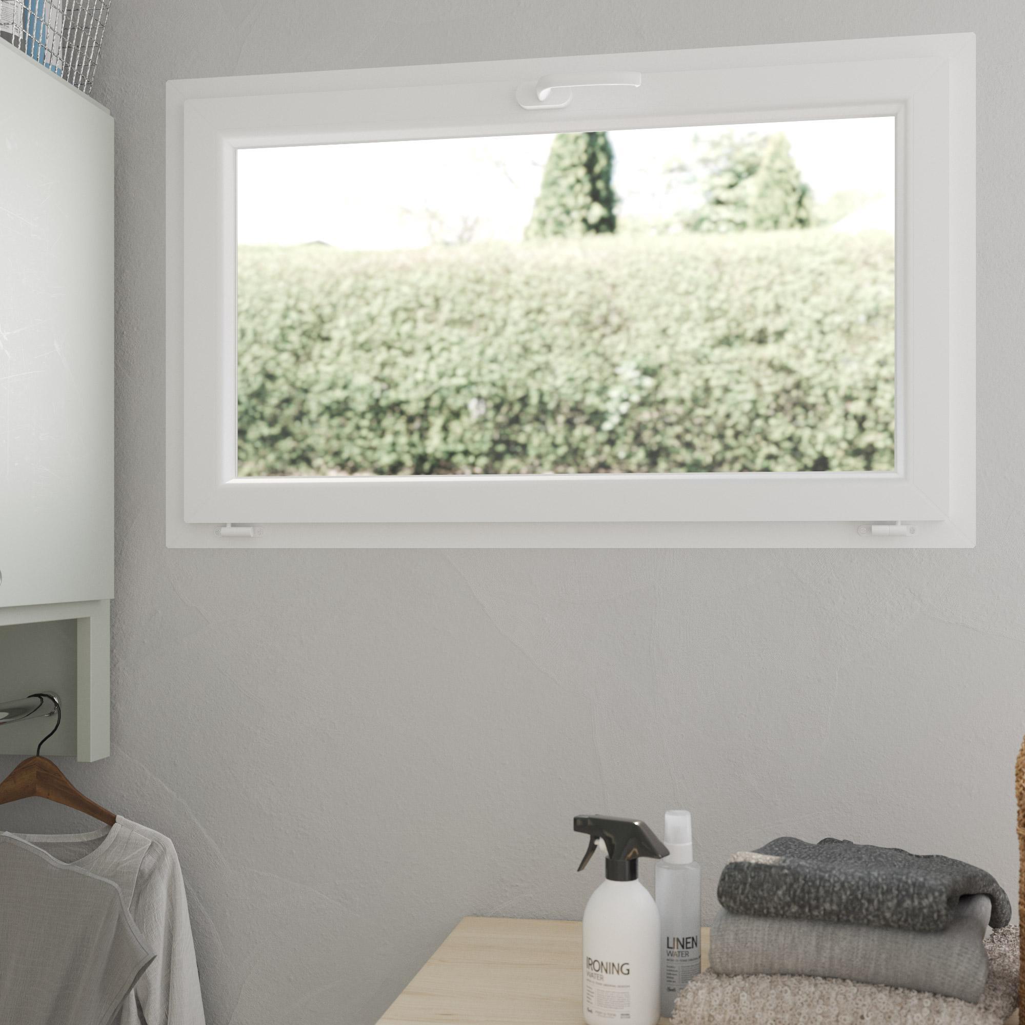 Abattant PVC H.60 x l.100 cm, blanc / blanc, 1 vantail
