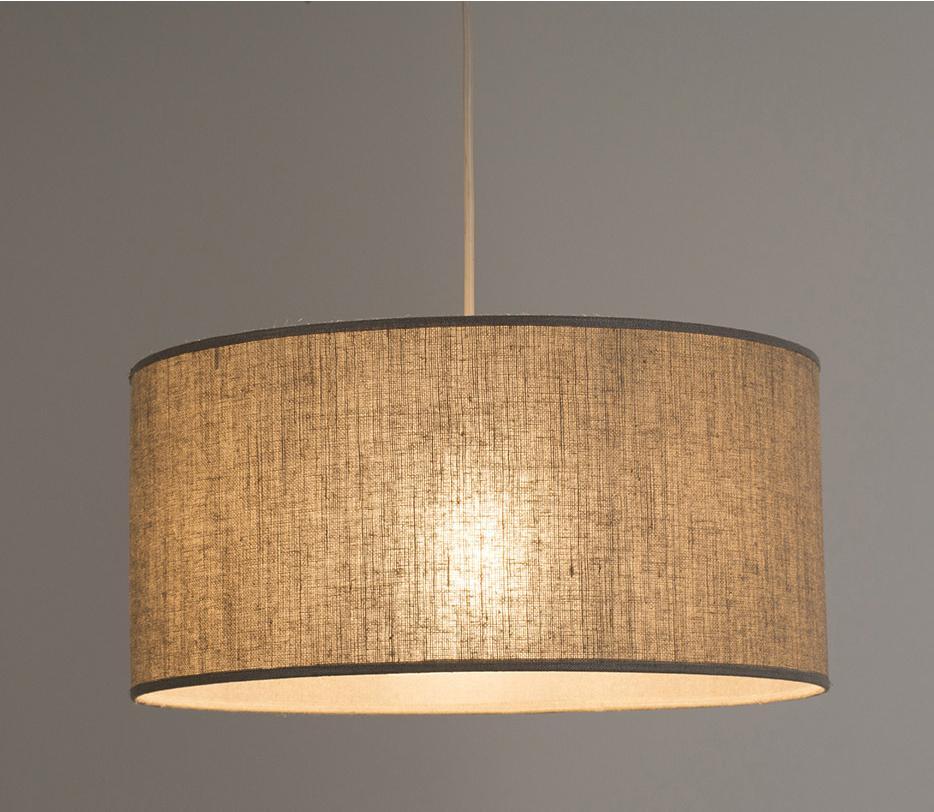 Suspension, classique tissu naturel COREP Hemingway 1 lumière(s) D.40 cm