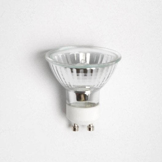 ampoule r flecteur halog ne 42w 300lm quiv 50w gu10 3000k 30 leroy merlin. Black Bedroom Furniture Sets. Home Design Ideas