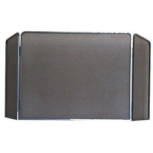 pare feu fer forg delta rustique 3 volets x cm leroy merlin. Black Bedroom Furniture Sets. Home Design Ideas