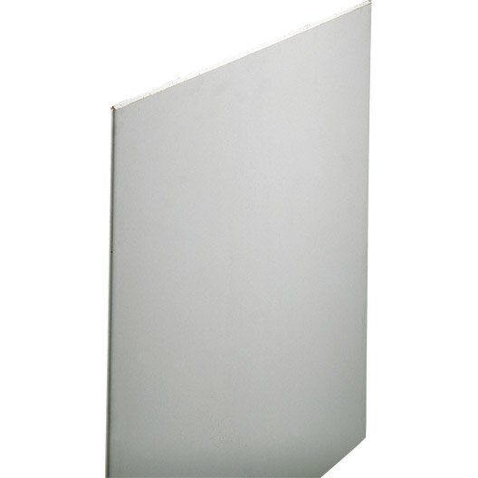 Plaque de plâtre NF 2.5 x 0.6 m, BA13, entraxe 60 cm