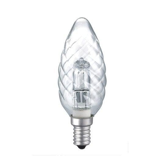 Ampoule flamme halogène 28W = 410Lm (équiv. 37W) E14 2800K LEXMAN