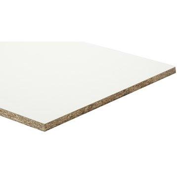 Panneau aggloméré blanc, Ep.18 mm x L.250 x l.125 cm