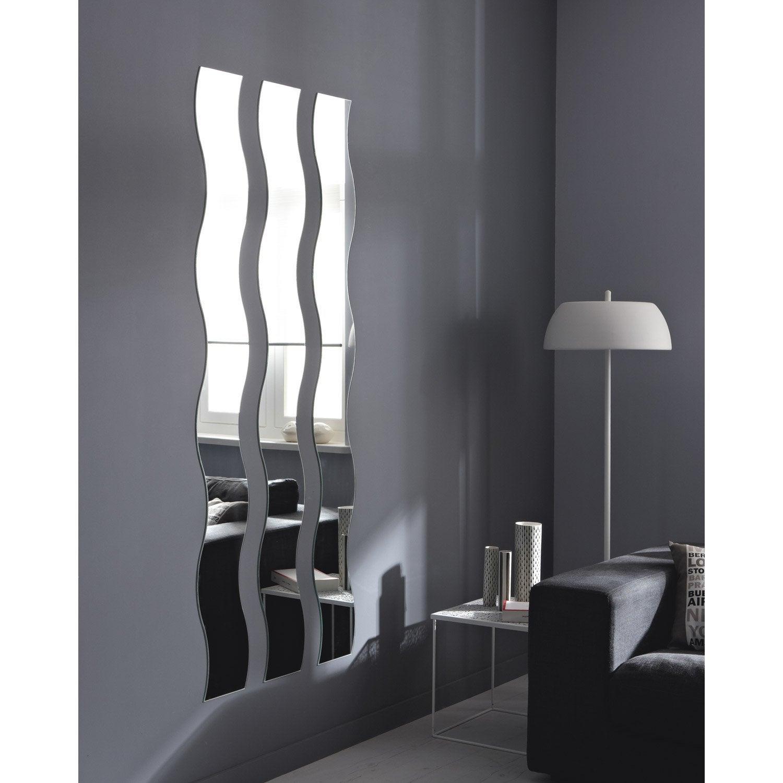 Miroir Non Lumineux Découpé Vague L 20 X L 160 5 Cm Vague