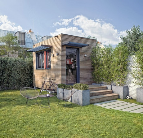 Un abri design dans le jardin