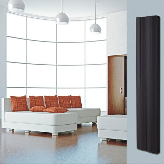 radiateur chauffage central double face noir sabl cm 1123 w leroy merlin. Black Bedroom Furniture Sets. Home Design Ideas
